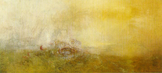 From J.M. Turner's Sunrise With Sea Monsters