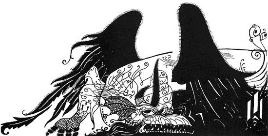 Dragon Illustration, by Aubrey Beardsley